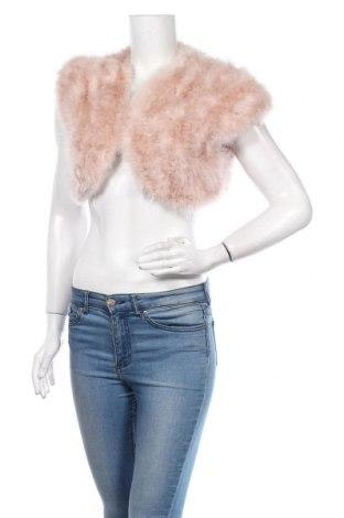 Γυναικείο δερμάτινο γιλέκο Mascara, Μέγεθος S, Χρώμα Ρόζ , Φυσικά φτερά, Τιμή 59,98€