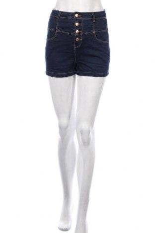Pantaloni scurți de femei Denim Co, Mărime M, Culoare Albastru, 74% bumbac, 24% poliester, 2% elastan, Preț 56,37 Lei