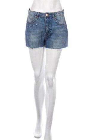 Pantaloni scurți de femei H&M by Coachella, Mărime M, Culoare Albastru, Bumbac, Preț 63,00 Lei