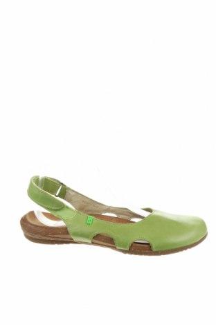 Дамски обувки El Naturalista, Размер 38, Цвят Зелен, Естествена кожа, Цена 104,25лв.