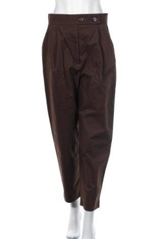 Дамски панталон COS, Размер M, Цвят Кафяв, 97% памук, 3% еластан, Цена 33,60лв.