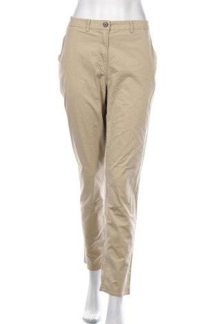 Dámské kalhoty  H&M, Velikost L, Barva Béžová, 96% bavlna, 4% elastan, Cena  542,00Kč