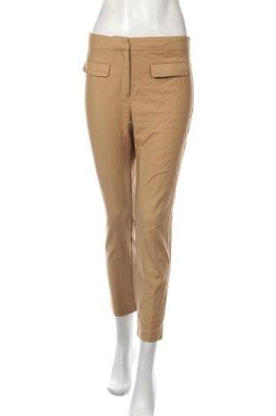 Pantaloni de femei Mango, Mărime S, Culoare Maro, 52% bumbac, 45% poliester, 3% elastan, Preț 112,74 Lei