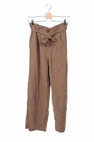 Pantaloni de femei ONLY, Mărime XS, Culoare Bej, 93% viscoză, 7% poliester, Preț 212,21 Lei