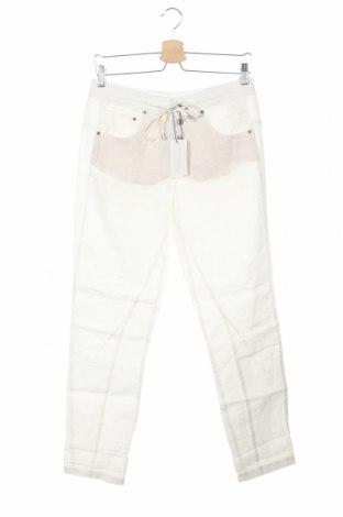 Дамски панталон Oui, Размер S, Цвят Бял, Лен, Цена 149,25лв.