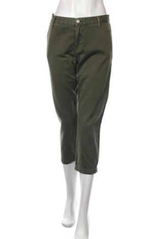 Дамски панталон Pepe Jeans, Размер M, Цвят Зелен, Памук, Цена 126,75лв.