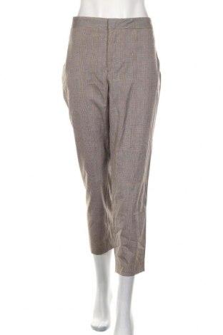 Dámské kalhoty  Zara, Velikost XL, Barva Hnědá, 65% polyester, 33% viskóza, 2% elastan, Cena  443,00Kč