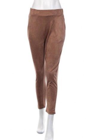 Pantaloni de femei Zara Trafaluc, Mărime S, Culoare Maro, Poliester, Preț 93,75 Lei