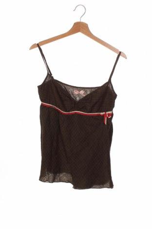 Γυναικείο αμάνικο μπλουζάκι Miss Sixty, Μέγεθος M, Χρώμα Πράσινο, 68% βαμβάκι, 32% μετάξι, Τιμή 18,09€