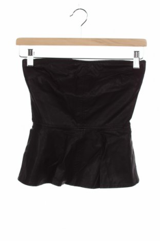 Tricou de damă Zara Trafaluc, Mărime XS, Culoare Negru, Piele ecologică, Preț 61,68 Lei