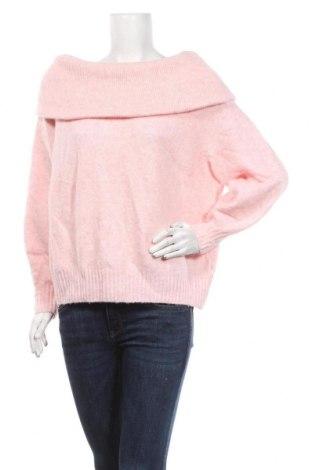 Dámský svetr H&M, Velikost M, Barva Růžová, 62%acryl, 28% polyamide, 8% vlna, 2% elastan, Cena  510,00Kč