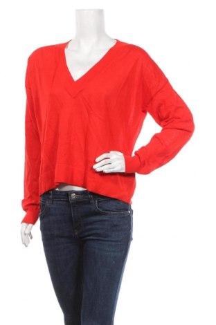 Dámský svetr H&M, Velikost M, Barva Červená, 89% viskóza, 11% polyamide, Cena  510,00Kč