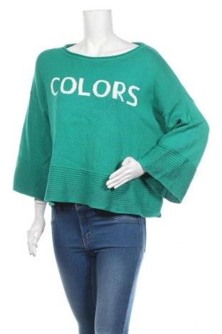 Γυναικείο πουλόβερ United Colors Of Benetton, Μέγεθος M, Χρώμα Πράσινο, Βαμβάκι, Τιμή 18,19€