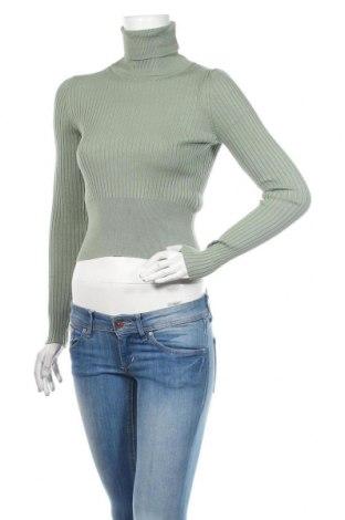 Dámský svetr Zara, Velikost S, Barva Zelená, 72% viskóza, 28% polyamide, Cena  443,00Kč