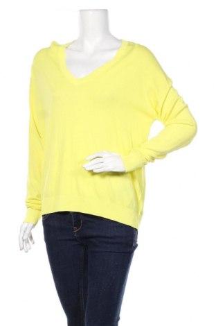 Damski sweter Zara, Rozmiar S, Kolor Żółty, 65% wiskoza, 35% poliamid, Cena 81,00zł
