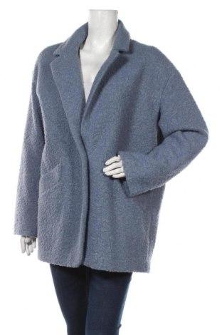 Dámský kabát  C&A, Velikost M, Barva Modrá, 56% polyester, 34%acryl, 10% vlna, Cena  765,00Kč