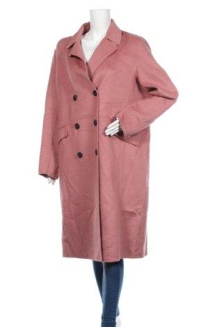 Dámský kabát  C&A, Velikost XXL, Barva Růžová, 42% vlna, 33% polyester, 25% viskóza, Cena  1020,00Kč