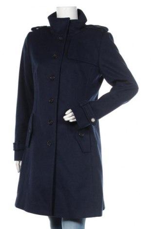 Дамско палто Hugo Boss, Размер L, Цвят Син, 90% вълна, 10% кашмир, Цена 216,00лв.