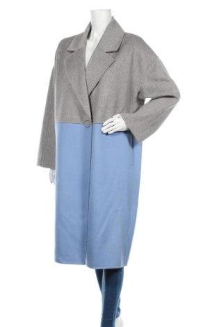 Dámský kabát  Karl Lagerfeld, Velikost L, Barva Modrá, 67% vlna, 30% polyester, 3% jiné tkaniva , Cena  8359,00Kč