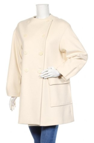 Dámský kabát  Zara, Velikost M, Barva Bílá, 62% polyester, 33% viskóza, 5% elastan, Cena  932,00Kč