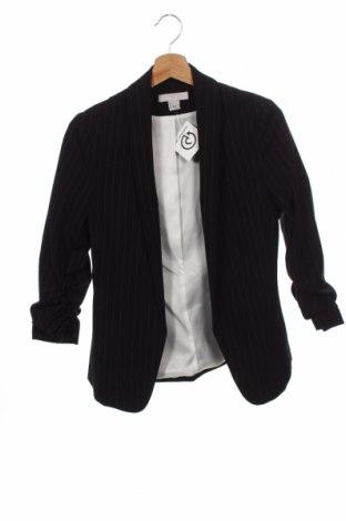 Дамско сако H&M, Размер XXS, Цвят Син, 65% полиестер, 31% вискоза, 4% еластан, Цена 24,00лв.