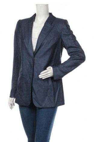 Дамско сако Patrizia Aryton, Размер M, Цвят Син, 51% коприна, 49% вълна, Цена 261,75лв.