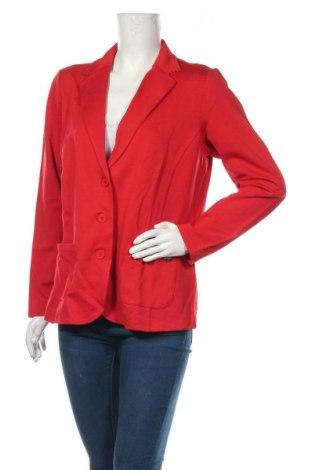 Γυναικείο σακάκι Samoon, Μέγεθος L, Χρώμα Κόκκινο, 95% βισκόζη, 5% ελαστάνη, Τιμή 57,60€