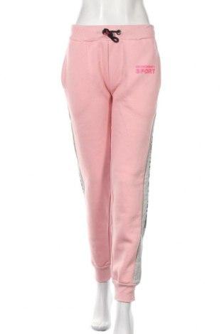 Pantaloni trening de femei Geographical Norway, Mărime XL, Culoare Roz, 65% bumbac, 35% poliester, Preț 169,80 Lei
