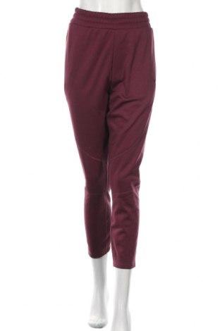 Pantaloni trening de femei PUMA, Mărime L, Culoare Roșu, Poliester, Preț 188,88 Lei