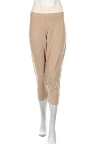 Pantaloni trening de femei Reebok, Mărime L, Culoare Bej, 60% bumbac, 35% poliester, 5% elastan, Preț 63,00 Lei