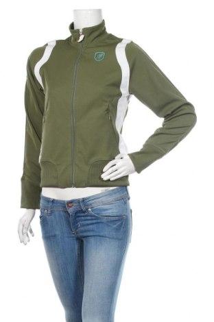 Дамско спортно горнище Saucony, Размер S, Цвят Зелен, Полиестер, Цена 21,75лв.