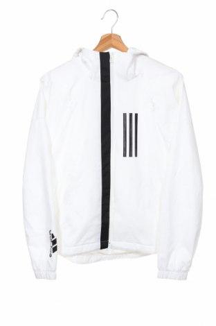 Дамско спортно яке Adidas, Размер XS, Цвят Бял, Полиестер, Цена 141,75лв.