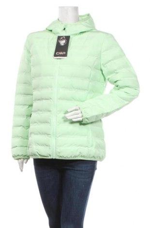 Дамско яке CMP, Размер M, Цвят Зелен, Полиестер, пух и пера, Цена 119,25лв.