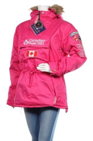 Γυναικείο μπουφάν Canadian Peak, Μέγεθος L, Χρώμα Ρόζ , Πολυεστέρας, Τιμή 106,88€