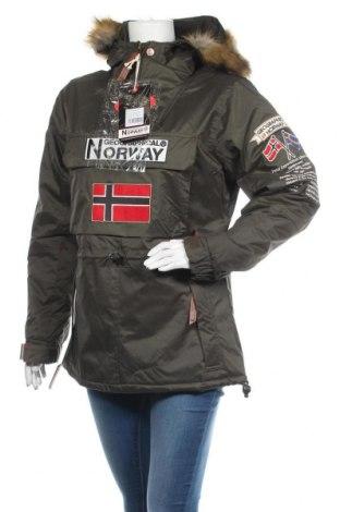 Дамско яке Geographical Norway, Размер S, Цвят Зелен, Полиестер, Цена 223,30лв.
