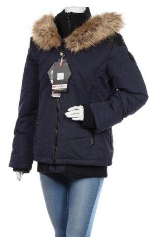 Γυναικείο μπουφάν Geographical Norway, Μέγεθος XL, Χρώμα Μπλέ, Πολυεστέρας, Τιμή 110,23€