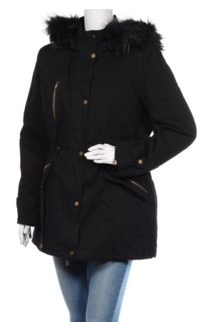 Γυναικείο μπουφάν Mitno, Μέγεθος XXL, Χρώμα Μαύρο, 65% βαμβάκι, 35% πολυεστέρας, Τιμή 57,37€