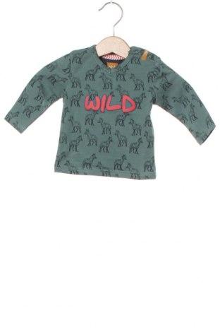 Детска блуза Beebielove, Размер 2-3m/ 56-62 см, Цвят Зелен, 95% памук, 5% еластан, Цена 28,50лв.