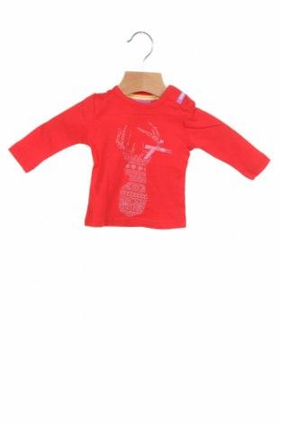 Детска блуза Beebielove, Размер 1-2m/ 50-56 см, Цвят Червен, 95% памук, 5% еластан, Цена 31,50лв.