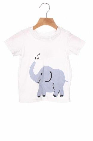 Детска блуза H&M, Размер 18-24m/ 86-98 см, Цвят Бял, Памук, Цена 16,50лв.