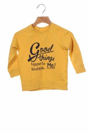 Детска блуза H&M, Размер 2-3y/ 98-104 см, Цвят Жълт, Памук, Цена 16,50лв.