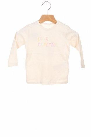 Bluză pentru copii Name It, Mărime 6-9m/ 68-74 cm, Culoare Ecru, 95% bumbac, 5% elastan, Preț 50,66 Lei