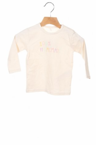 Bluză pentru copii Name It, Mărime 6-9m/ 68-74 cm, Culoare Ecru, 95% bumbac, 5% elastan, Preț 43,75 Lei