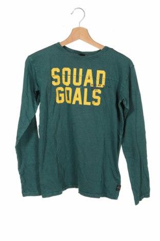 Детска блуза Replay, Размер 13-14y/ 164-168 см, Цвят Зелен, Памук, Цена 66,75лв.