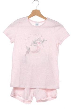 Детска пижама Sanetta, Размер 9-10y/ 140-146 см, Цвят Розов, Памук, Цена 36,75лв.