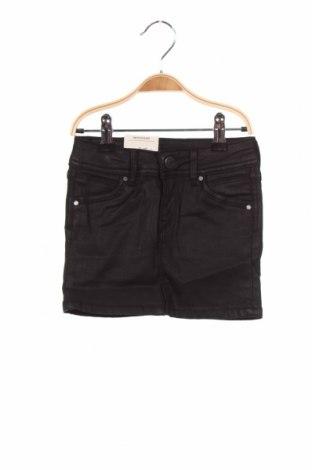 Fustă pentru copii Pepe Jeans, Mărime 3-4y/ 104-110 cm, Culoare Negru, 74% bumbac, 24% poliamidă, 2% elastan, Preț 168,92 Lei