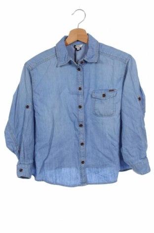 Cămașă pentru copii Pepe Jeans, Mărime 11-12y/ 152-158 cm, Culoare Albastru, 69% bumbac, 31% lyocell, Preț 124,83 Lei