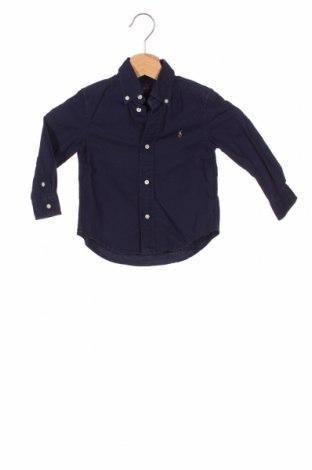 Детска риза Ralph Lauren, Размер 18-24m/ 86-98 см, Цвят Син, Памук, Цена 24,75лв.