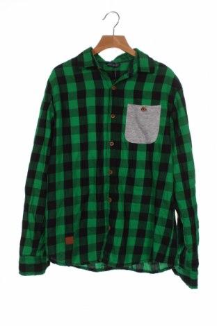 Παιδικό πουκάμισο Reserved, Μέγεθος 12-13y/ 158-164 εκ., Χρώμα Πράσινο, Βαμβάκι, Τιμή 11,14€