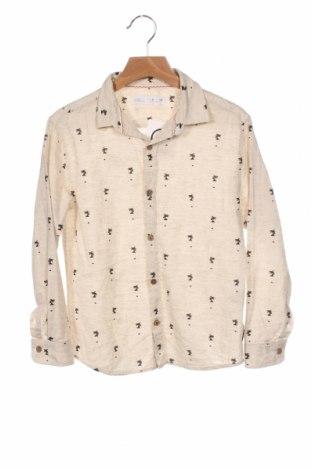 Dětská košile  Zara, Velikost 7-8y/ 128-134 cm, Barva Béžová, 78% bavlna, 22% len, Cena  383,00Kč